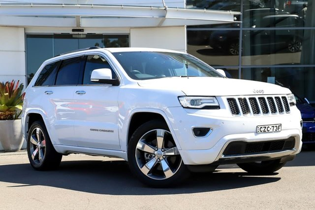 Used Jeep Grand Cherokee WK MY15 Overland, 2015 Jeep Grand Cherokee WK MY15 Overland White 8 Speed Sports Automatic Wagon
