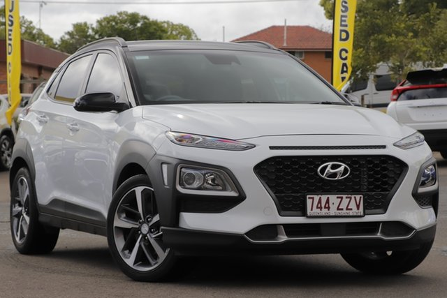 Used Hyundai Kona OS MY18 Launch Edition D-CT AWD, 2017 Hyundai Kona OS MY18 Launch Edition D-CT AWD Chalk White & Black Roof 7 Speed