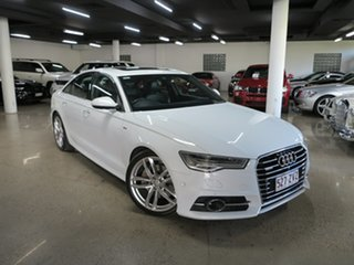 2015 Audi A6 4G MY15 S Line S Tronic Quattro White 7 Speed Sports Automatic Dual Clutch Sedan.