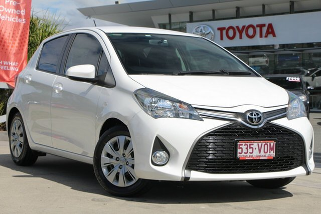Used Toyota Yaris NCP131R SX, 2014 Toyota Yaris NCP131R SX Glacier White 4 Speed Automatic Hatchback