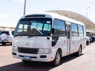 2008 Toyota Coaster XZB50R 07 Upgrade Standard (LWB) White Bus.