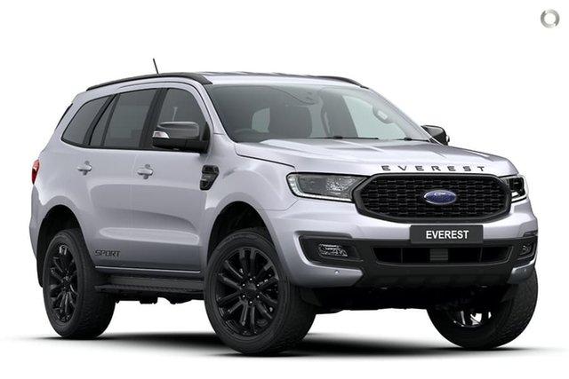 New Ford Everest UA II 2020.75MY Sport, 2020 Ford Everest UA II 2020.75MY Sport Silver 10 Speed Sports Automatic SUV