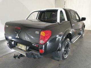 2006 Mitsubishi Triton ML MY07 GLX-R Double Cab Black 5 Speed Manual Utility