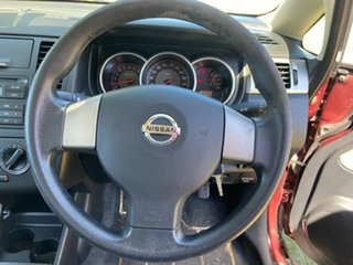 2008 Nissan Tiida C11 MY07 ST Maroon 6 Speed Manual Sedan
