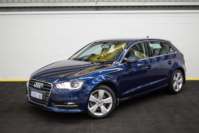 Used Audi A3 8V MY16 Ambition Sportback S Tronic, 2016 Audi A3 8V MY16 Ambition Sportback S Tronic Blue 7 Speed Sports Automatic Dual Clutch Hatchback