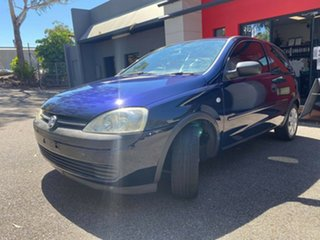 2001 Holden Barina XC Metallic Blue 4 Speed Automatic Hatchback.