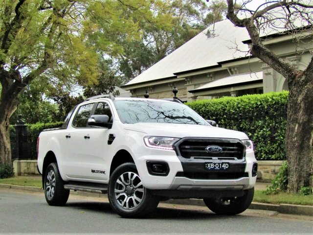 Used Ford Ranger PX MkIII 2019.00MY Wildtrak, 2019 Ford Ranger PX MkIII 2019.00MY Wildtrak White 10 Speed Sports Automatic Double Cab Pick Up