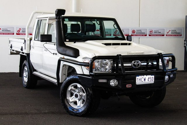 Used Toyota Landcruiser LC70 VDJ79R MY17 GXL (4x4), 2017 Toyota Landcruiser LC70 VDJ79R MY17 GXL (4x4) French Vanilla 5 Speed Manual Double Cab Chassis