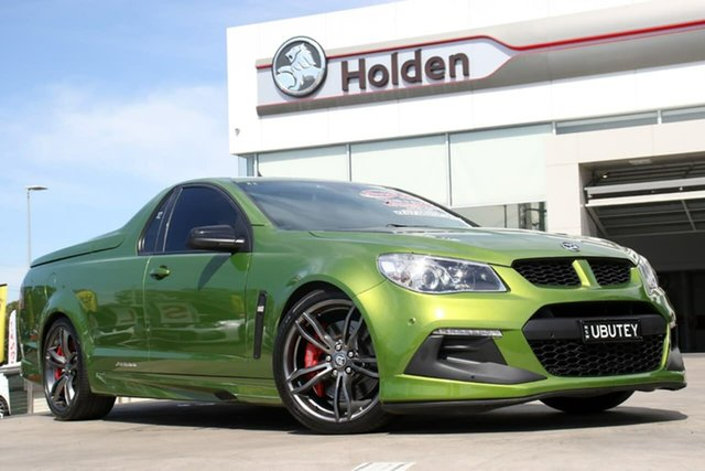 Used Holden Special Vehicles Maloo Gen-F2 MY16 R8 LSA, 2016 Holden Special Vehicles Maloo Gen-F2 MY16 R8 LSA Jungle Green 6 Speed Manual Utility