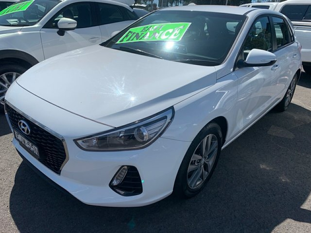 Used Hyundai i30 PD2 MY18 Active, 2018 Hyundai i30 PD2 MY18 Active White 6 Speed Sports Automatic Hatchback