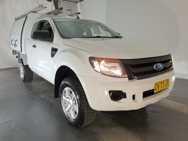 Used Ford Ranger PX XL Hi-Rider, 2012 Ford Ranger PX XL Hi-Rider White 6 Speed Sports Automatic Cab Chassis