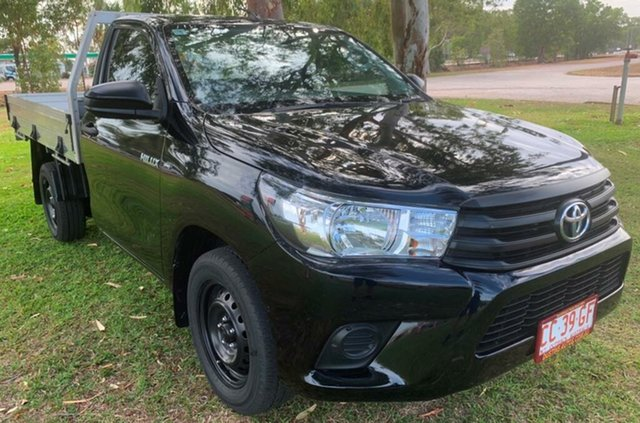 Used Toyota Hilux TGN121R Workmate 4x2, 2016 Toyota Hilux TGN121R Workmate 4x2 Black 5 Speed Manual Cab Chassis
