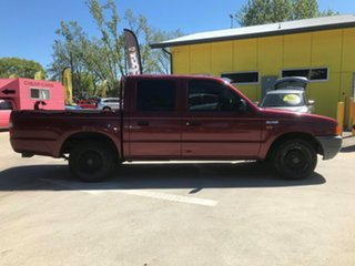 2000 Ford Courier PE GL Crew Cab 4x2 Maroon 5 Speed Manual Cab Chassis
