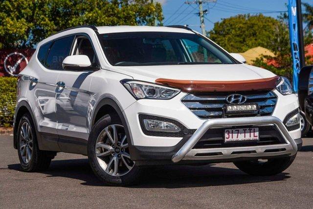Used Hyundai Santa Fe DM MY14 Elite, 2014 Hyundai Santa Fe DM MY14 Elite White 6 Speed Sports Automatic Wagon
