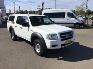2007 Ford Ranger PJ XL Crew Cab 4x2 Hi-Rider White 5 Speed Manual Double Cab Pick Up.