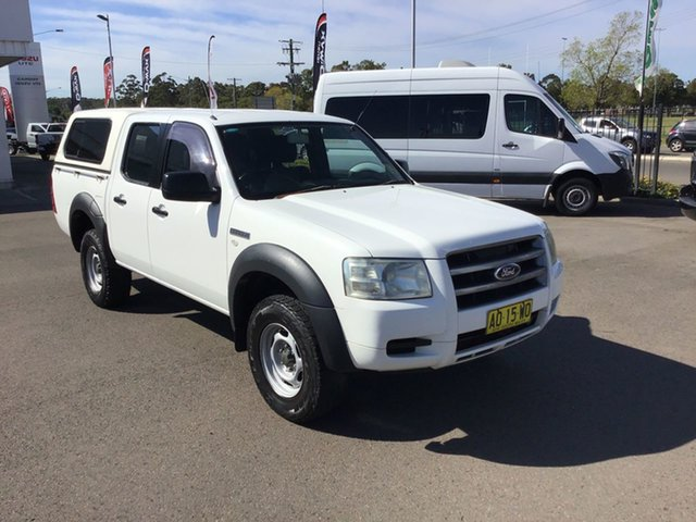 Used Ford Ranger PJ XL Crew Cab 4x2 Hi-Rider, 2007 Ford Ranger PJ XL Crew Cab 4x2 Hi-Rider White 5 Speed Manual Double Cab Pick Up