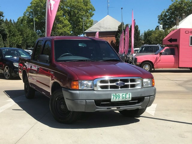 Used Ford Courier PE GL Crew Cab 4x2, 2000 Ford Courier PE GL Crew Cab 4x2 Maroon 5 Speed Manual Cab Chassis
