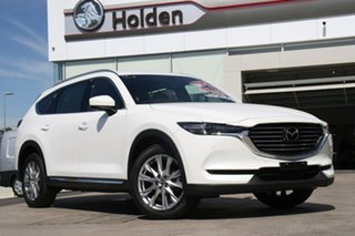 2018 Mazda CX-8 KG4W2A Asaki SKYACTIV-Drive i-ACTIV AWD White Pearl 6 Speed Sports Automatic Wagon.