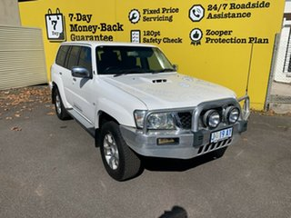 2010 Nissan Patrol GU 7 MY10 ST White 4 Speed Automatic Wagon