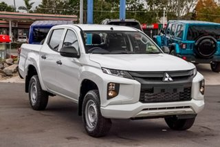 2019 Mitsubishi Triton MR MY19 GLX Double Cab ADAS White 6 Speed Manual Utility.