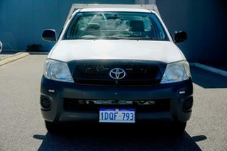 2011 Toyota Hilux TGN16R MY10 Workmate 4x2 White 5 Speed Manual Cab Chassis