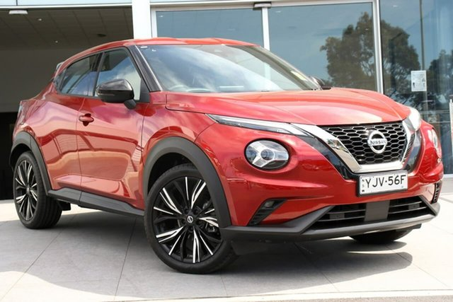 Demo Nissan Juke F16 Ti DCT 2WD Liverpool, 2020 Nissan Juke F16 Ti DCT 2WD Fuji Sunset Red 7 Speed Sports Automatic Dual Clutch Hatchback