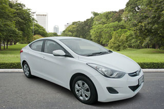 2012 Hyundai Elantra MD2 Active White 6 Speed Manual Sedan.