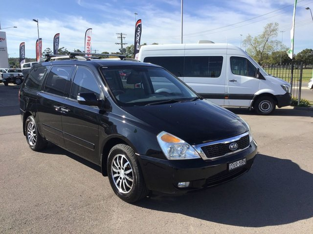 Used Kia Grand Carnival VQ MY11 SLi, 2010 Kia Grand Carnival VQ MY11 SLi Black 6 Speed Sports Automatic Wagon