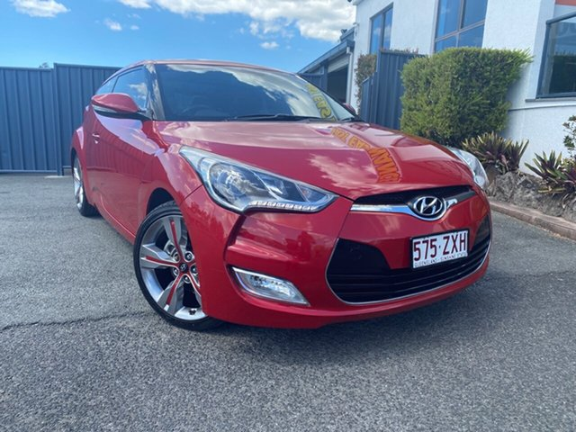 Used Hyundai Veloster FS + Coupe, 2012 Hyundai Veloster FS + Coupe Red 6 Speed Manual Hatchback