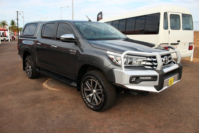 Used Toyota Hilux GUN126R SR5 Double Cab, 2017 Toyota Hilux GUN126R SR5 Double Cab Graphite 6 Speed Automatic Dual Cab