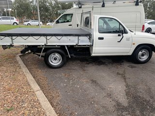 2004 Toyota Hilux RZN149R MY02 4x2 White 5 Speed Manual Cab Chassis.