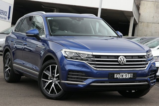 Used Volkswagen Touareg CR MY19 190TDI Tiptronic 4MOTION Launch Edition, 2019 Volkswagen Touareg CR MY19 190TDI Tiptronic 4MOTION Launch Edition Blue 8 Speed