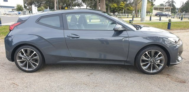 Demo Hyundai Veloster JS Geelong, 2019 Hyundai Veloster JS Grey Automatic Hatchback