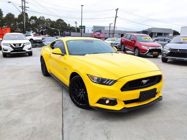 Used Ford Mustang FM GT Fastback, 2016 Ford Mustang FM GT Fastback Yellow 6 Speed Manual Fastback