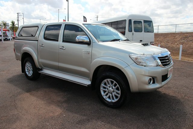 Pre-Owned Toyota Hilux KUN26R MY14 SR5 Double Cab Darwin, 2014 Toyota Hilux KUN26R MY14 SR5 Double Cab Sterling Silver 5 Speed Automatic Utility