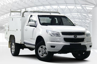 2015 Holden Colorado RG MY15 LS (4x4) Summit White 6 Speed Manual Cab Chassis.
