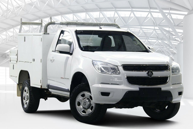 Used Holden Colorado RG MY15 LS (4x4) Moorebank, 2015 Holden Colorado RG MY15 LS (4x4) Summit White 6 Speed Manual Cab Chassis