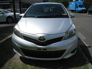 2012 Toyota Yaris NCP130R YR Silver 4 Speed Automatic Hatchback.