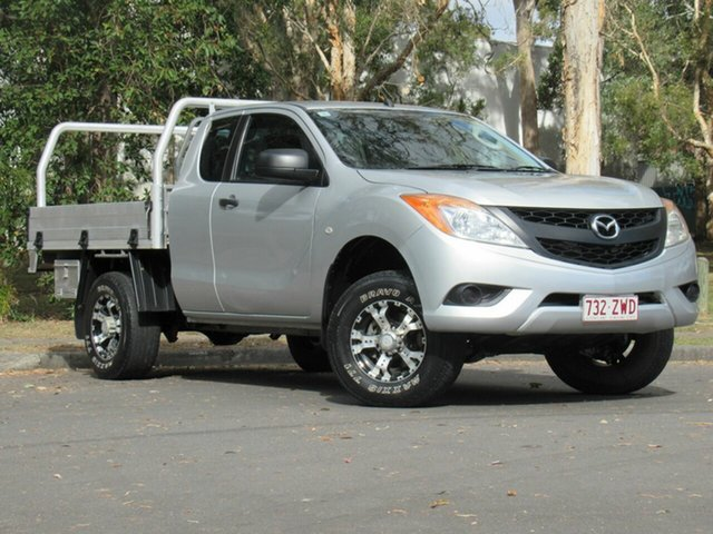 Used Mazda BT-50 UP0YF1 XT Freestyle 4x2 Hi-Rider, 2012 Mazda BT-50 UP0YF1 XT Freestyle 4x2 Hi-Rider Silver 6 Speed Manual Cab Chassis