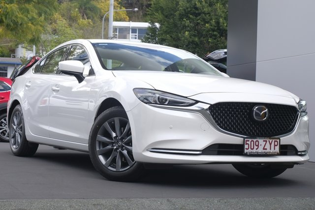 Demo Mazda 6 GL1033 Touring SKYACTIV-Drive Newstead, 2019 Mazda 6 GL1033 Touring SKYACTIV-Drive Snowflake White 6 Speed Sports Automatic Sedan