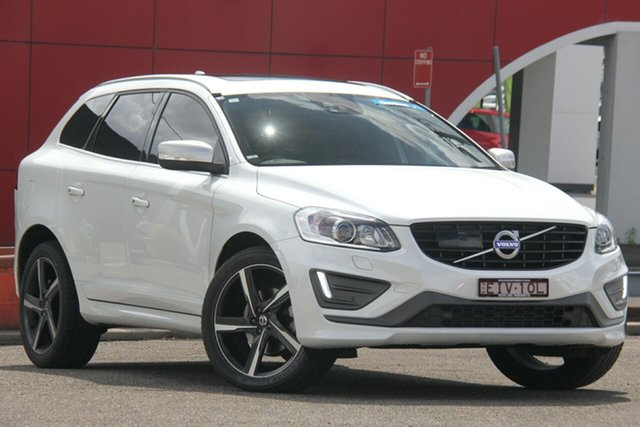 Used Volvo XC60 DZ MY16 D5 Geartronic AWD R-Design, 2016 Volvo XC60 DZ MY16 D5 Geartronic AWD R-Design White 6 Speed Sports Automatic Wagon