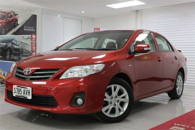 Used Toyota Corolla ZRE152R Ascent Sport, 2011 Toyota Corolla ZRE152R Ascent Sport Red 4 Speed Automatic Sedan
