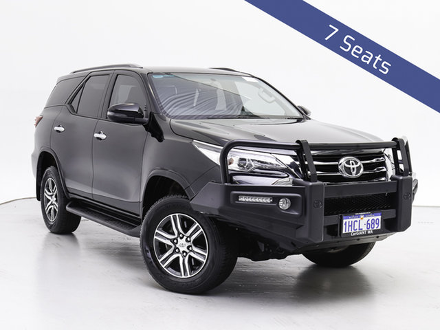 Used Toyota Fortuner GUN156R MY18 GXL, 2018 Toyota Fortuner GUN156R MY18 GXL Black 6 Speed Automatic Wagon