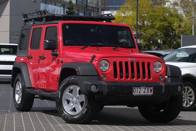 Used Jeep Wrangler JK MY2015 Unlimited Sport, 2014 Jeep Wrangler JK MY2015 Unlimited Sport Red 5 Speed Automatic Softtop
