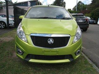 2010 Holden Barina Spark MJ CDX Green 5 Speed Manual Hatchback.