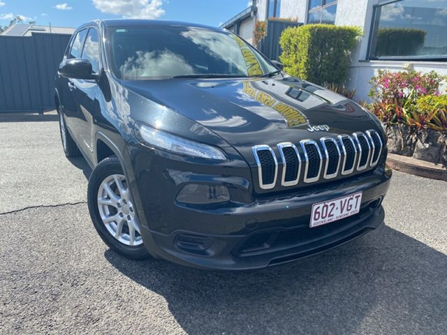 Used Jeep Cherokee KL Sport, 2014 Jeep Cherokee KL Sport Black 9 Speed Sports Automatic Wagon