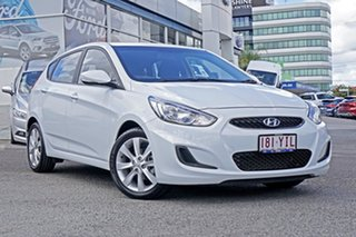 2018 Hyundai Accent RB6 MY18 Sport White 6 Speed Manual Hatchback.