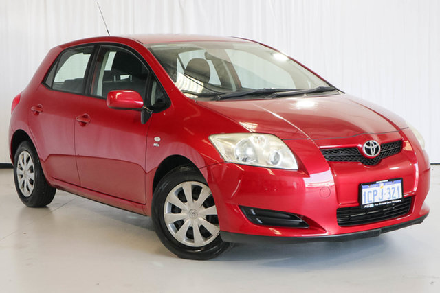 Used Toyota Corolla ZZE122R 5Y Ascent, 2007 Toyota Corolla ZZE122R 5Y Ascent Red 4 Speed Automatic Hatchback
