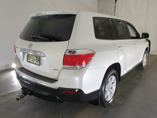 2012 Toyota Kluger GSU45R MY12 KX-R AWD White 5 Speed Sports Automatic Wagon