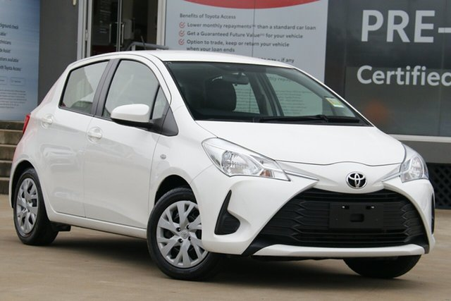 Used Toyota Yaris NCP130R MY18 Ascent, 2019 Toyota Yaris NCP130R MY18 Ascent Glacier White 4 Speed Automatic Hatchback